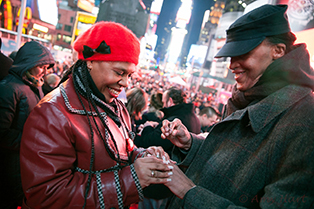 Valentine's Day in Times Square 2014