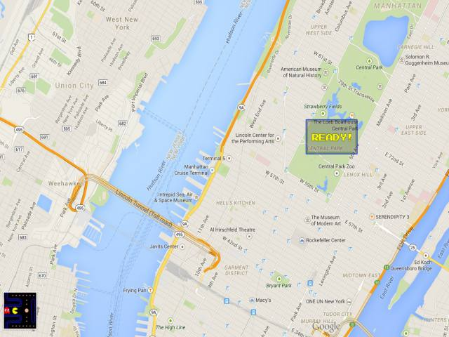 how to start pacman on google maps