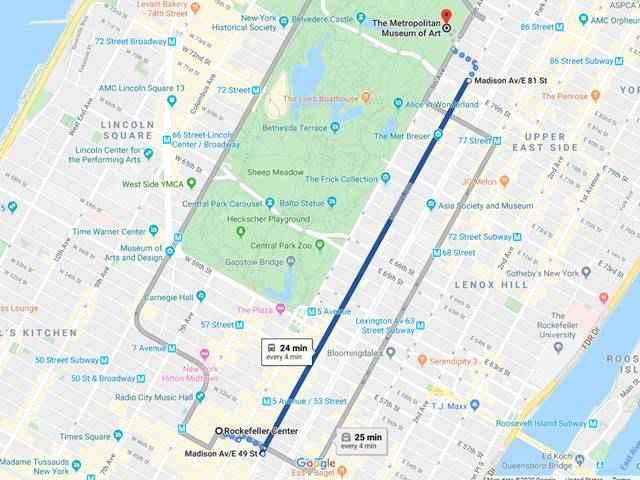 Met Bus Map