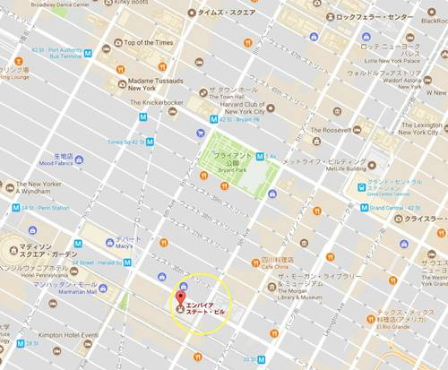 Empire State Building Map