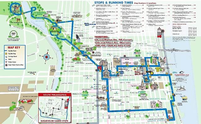 Big Bus Tours Map