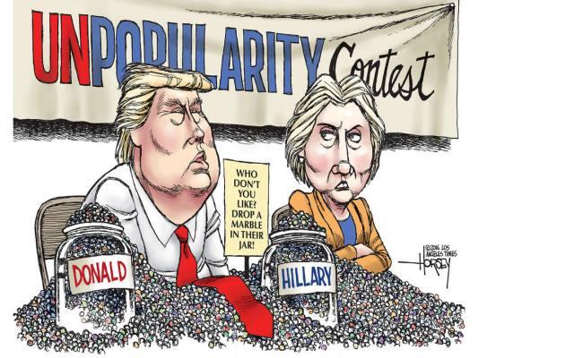 trump-vs-hillary-by-david-horsey