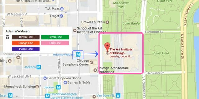 Art Institute of Chicago Map