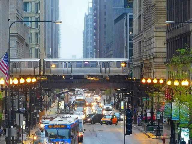 フォトジェニックなシカゴ ダウンタウン街角写真 シカゴで印象的だった