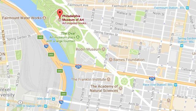 Philadelphia Museum Map