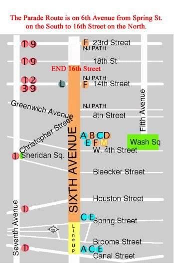 NYC Halloween Parade Map