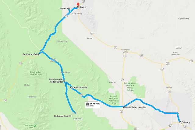 death-valley-driving-route