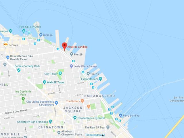Alcatraz Landing MAP