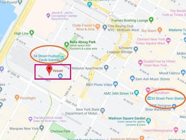 Vessel Hudson Yards NY Map