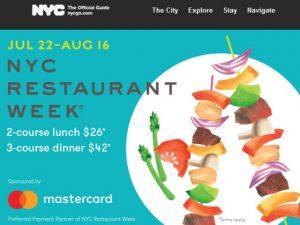 NYC Restaurant Week July 2019