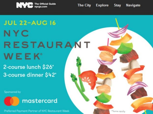 NYC Restaurant Week July 2019