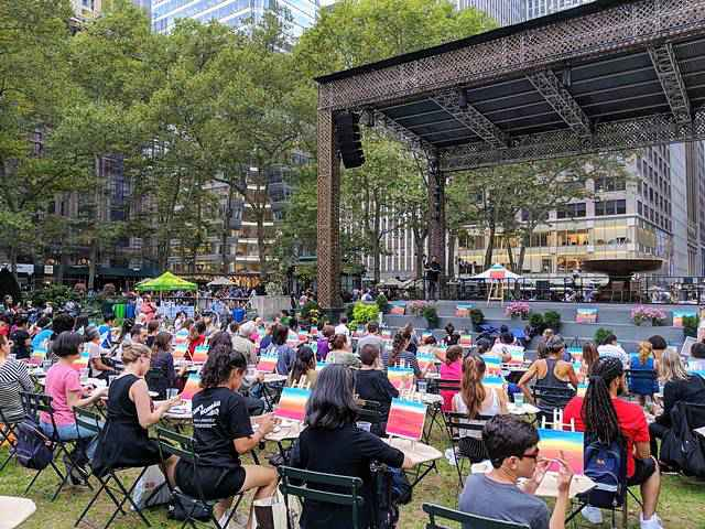 Bryant Park Sketch and Paint Night (2)
