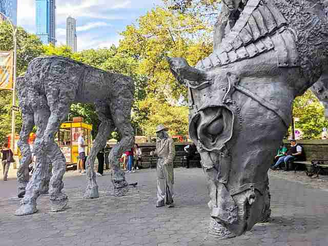 Giant Horse Sculpture in Central Park NY (1)