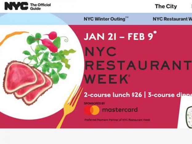 NYC Restaurant Week Jan 2020