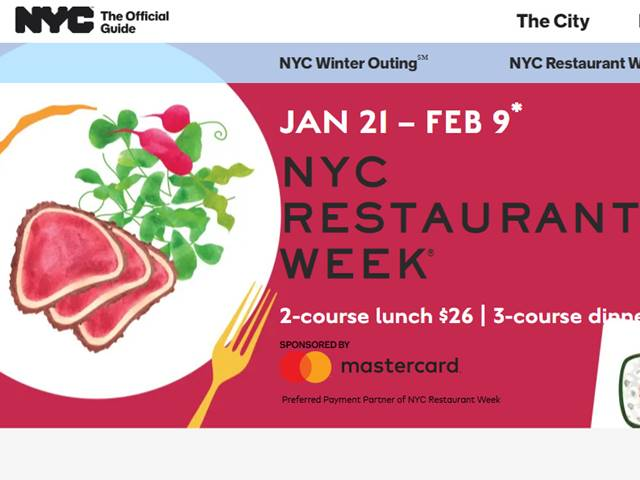 NYC Restaurant Week Jan 2020