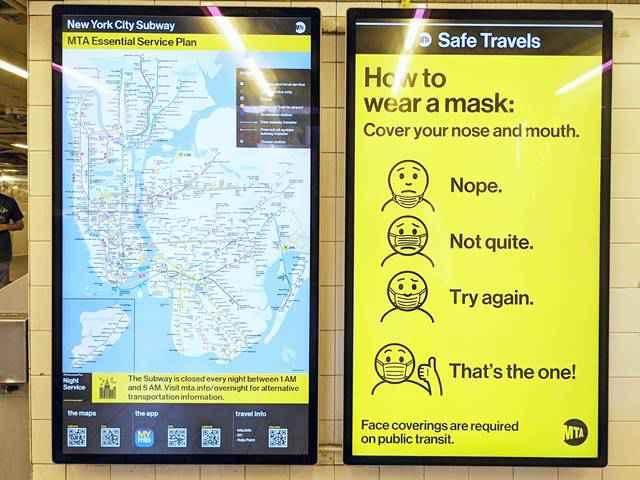 Metro NYC Subway Mask