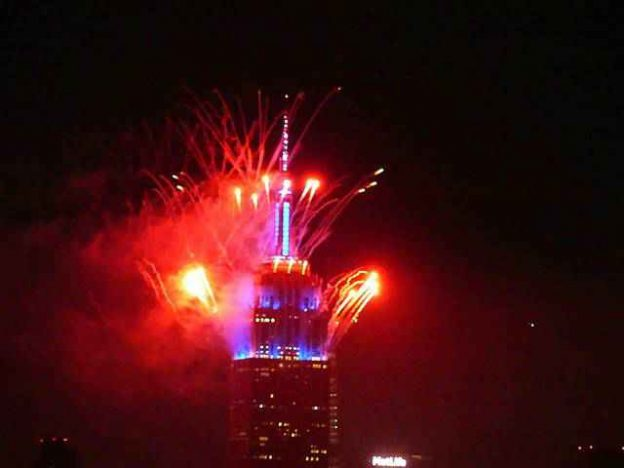 Empire State Building Fireworks (2)