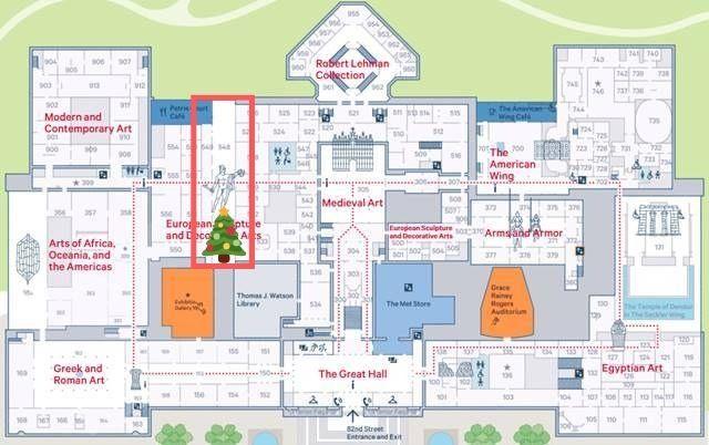 MET Christmas Tree Map