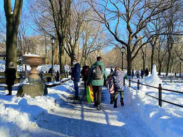 Central Park Snow Art (8)