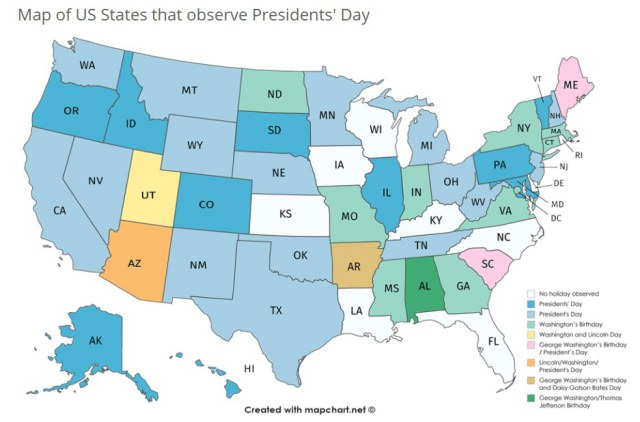 presidents-day-by-us-states